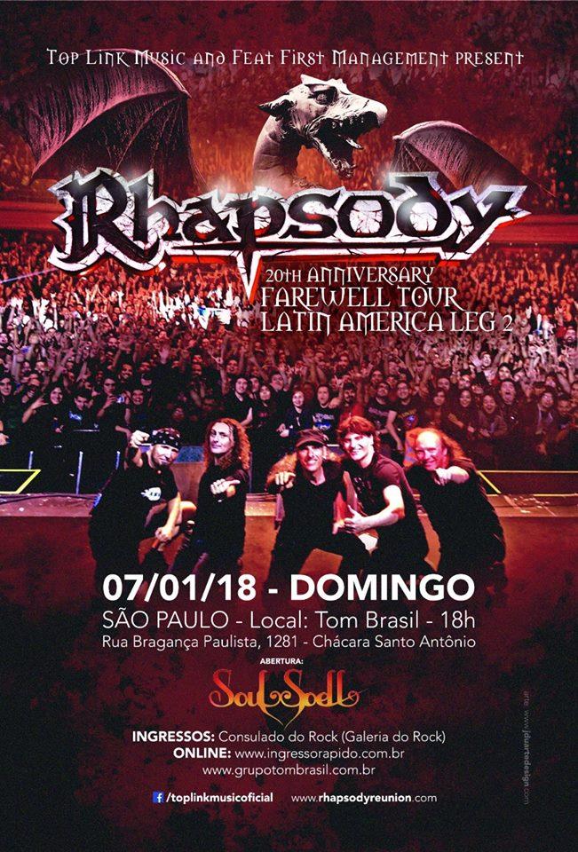 6df46927b9289 Após muitos pedidos dos fãs, a banda Rhapsody volta a se apresentar em São  Paulo, no Tom Brasil, dia 7 de Janeiro, com a 20th Anniversary Reunion  Farewell ...